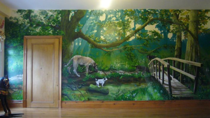 Наиболее популярными фресками являются картины природы.