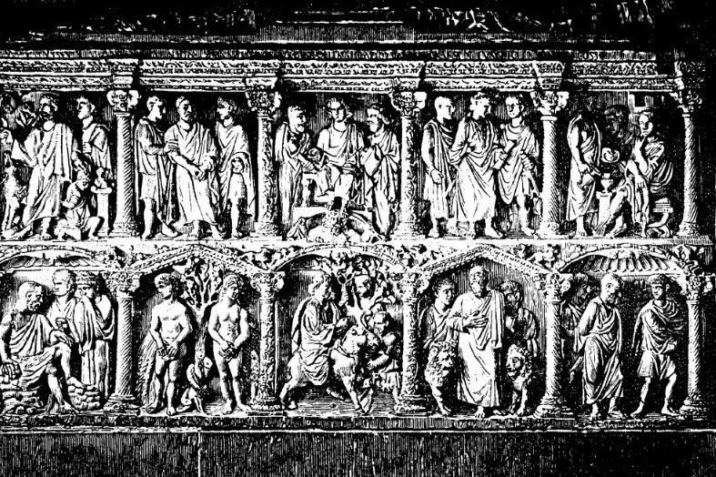 Саркофаг Юния Басса - известного римского префекта.
