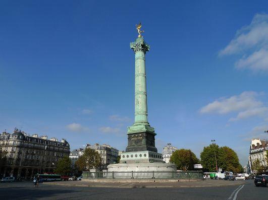 Июльская колонна на площади Бастилии