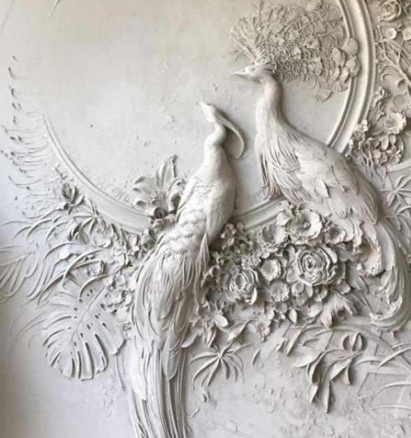 Рельефный скульптурный декор стен