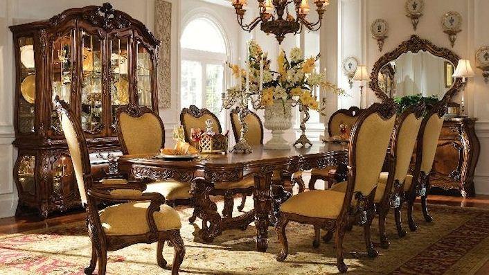 Роскошная дубовая мебель в интерьере