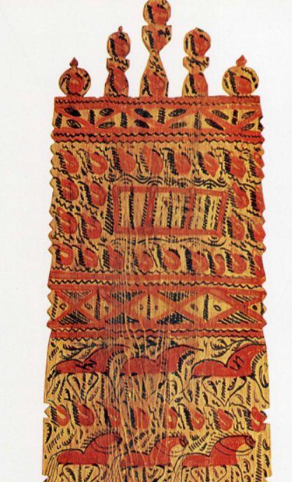 Фрагмент художественной отделки мезенской прялки ( Мезень, село Палащелье, 70 - е годы XIX века).