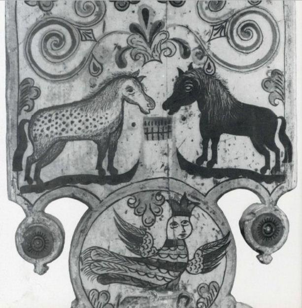 Деталь пермогорской прялки ( 18 век, Северная Двина, Пермогорье).