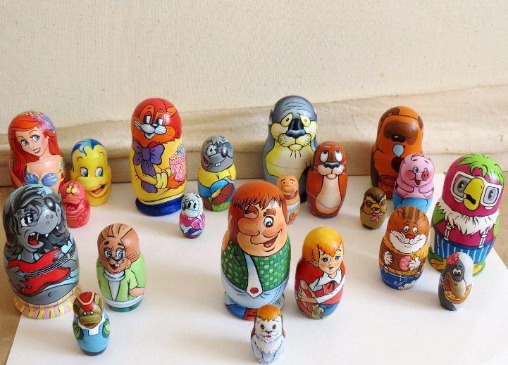 Матрешки - герои популярных мультфильмов