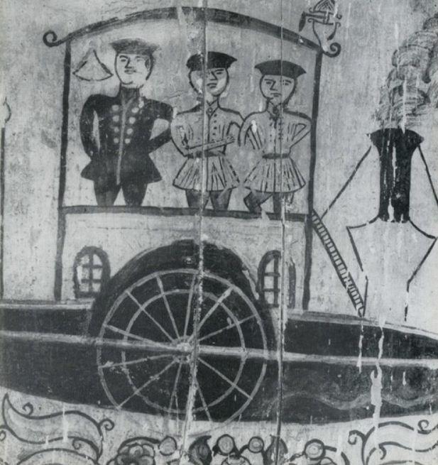 Деталь прялки ( середина XIX века, Северная Двина, Пермогорье).