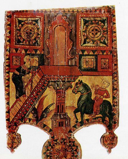 Прялка с посвящением владелице ( вторая половина XVIII века, Северная Двина, Борок)