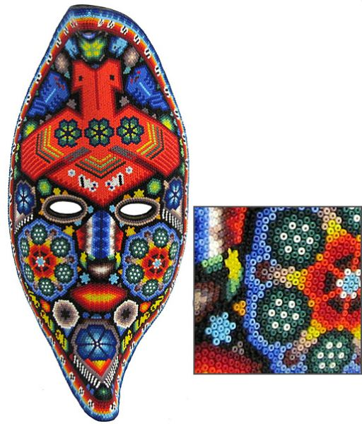 Бисер на мозаике уложен отверстиями вверх