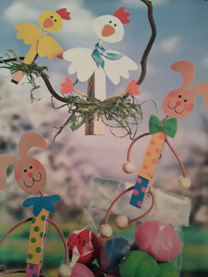 Из прищепок могут получиться фигурки различных животных и птиц, сказочных персонажей и героев мультфильмов.