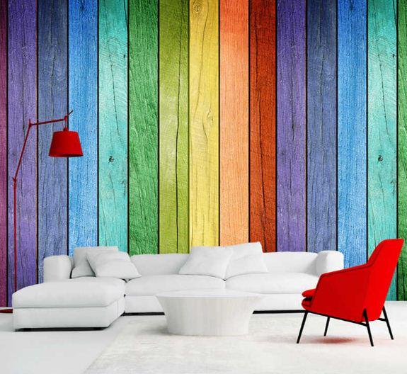 Фотообои с изображением разноцветных полос.
