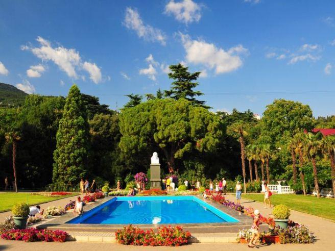 В Никитском ботаническом саду.