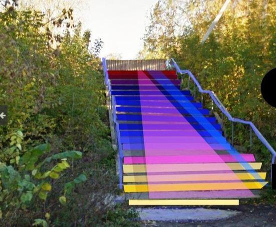 Проект цветной лестницы - город Иванов ( Россия).