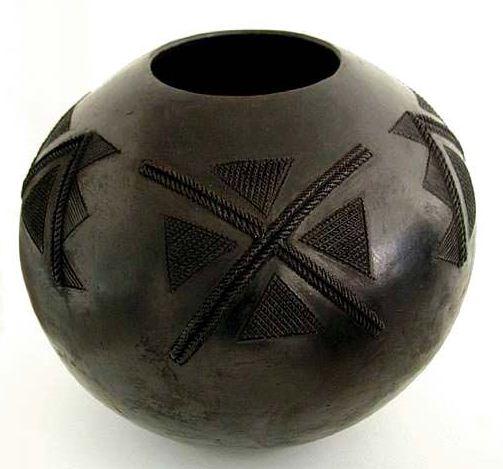Образец чернолощеной керамики