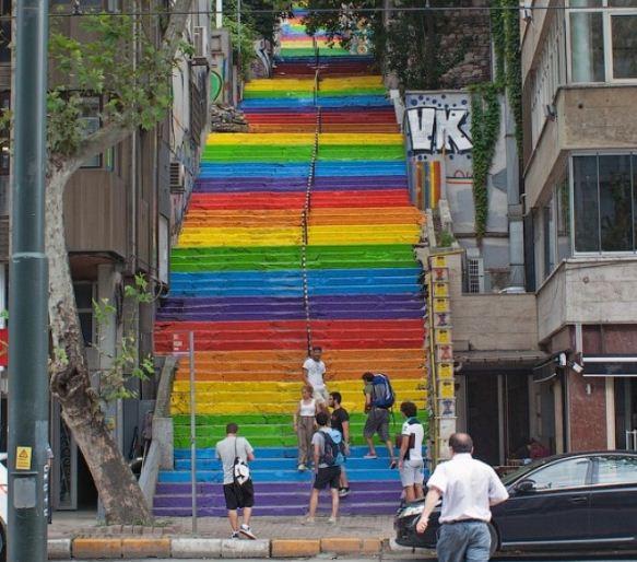 Образец окраски ступеней к проекту реставрации лестницы в Одессе.