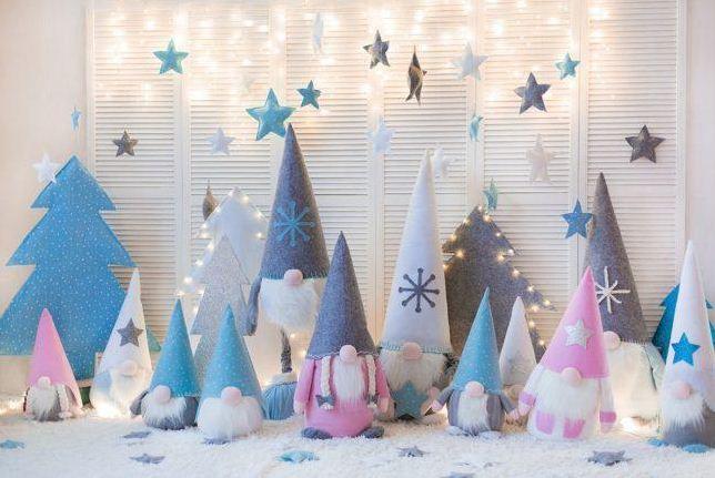 Стилизованные элементы новогоднего декора