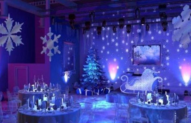 Волшебство новогодней ночи в декоре с подсветкой