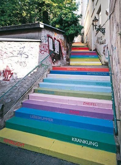 Радужные ступени в Вуппертале