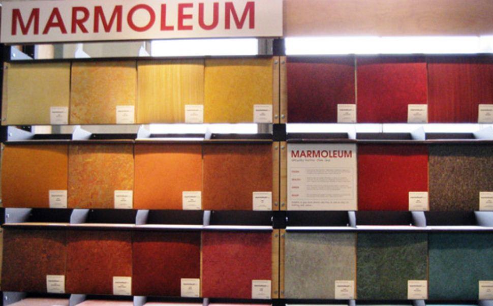 Разнообразие цветовой гаммы плиточного мармолеума