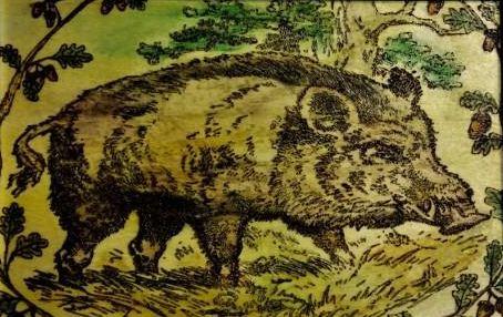 Образец живописной пирогравюры