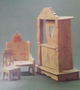 Кукольный шкафчик-буфет