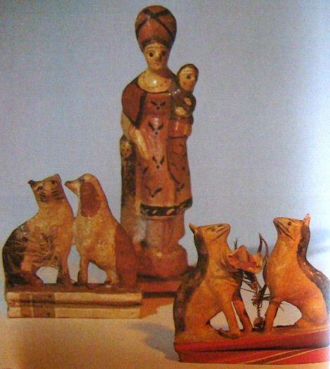 """Кормилица ( конец XIX- начало XX века). Кошка с собакой на """" пищике"""" ( II половина 19 века). Лисичка на """" пищике"""" ( 1918 - 1919 годы)."""