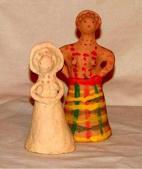 Чернышинские куклы - расписанная и без росписи.