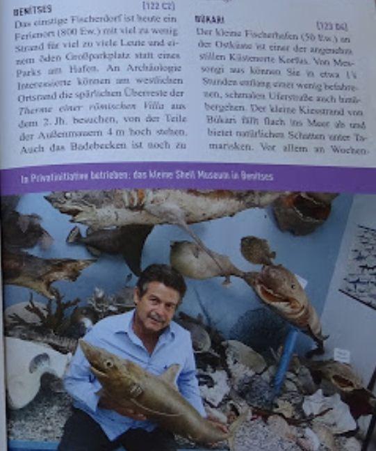 Наполеон Сейгас в туристическом справочнике приглашает посетить Музей раковин