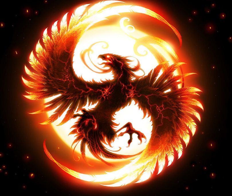 Птица Феникс - символ несокрушимой воли и умения преодолевать трудности.